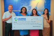 Aloha Petroleum, Ltd. recently presented a $10,571 check to the Muscular Dystrophy Association, Hawaii Chapter, to support the organization's mission to find a cure for muscular dystrophy and other neuromuscular diseases. From left, Gary Altman, general manager of company operated stores for Aloha Petroleum, Ltd.; Jade Guess, fundraising coordinator for Muscular Dystrophy Association, Hawaii Chapter; Adrianna O'Donnell, executive director for Muscular Dystrophy Association, Hawaii Chapter; and Cassandra Bui, marketing communications manager for Aloha Petroleum, Ltd.