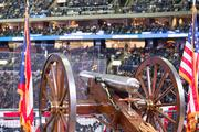 The cannon was silent in the second period.