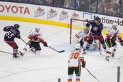 The Flames held off the Jackets' finally rally, but one paid a pretty significant price.