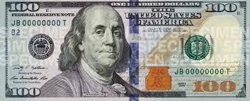 The new $100 bill includes anti-counterfeiting features like a new collar for Benjamin Franklin.