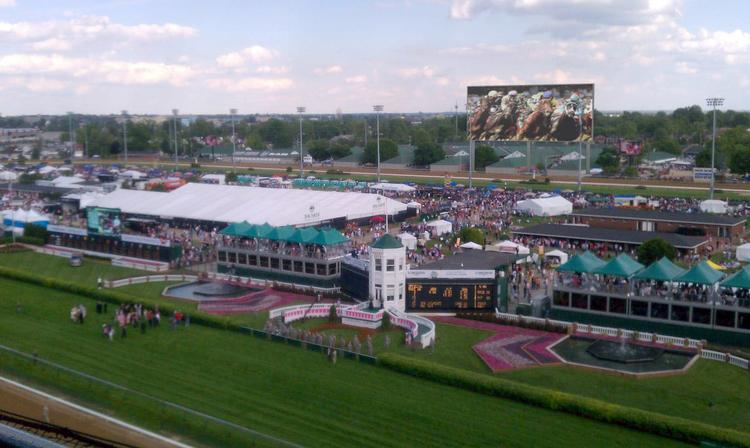 This rendering show the planned 15,244-square-foot, high definition video board that will be installed at Churchill Downs in time for next years Kentucky Oaks and Kentucky Derby.