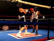 Attorney David Mandel (left) sparring with Michael Shooster of Global Response Corp.