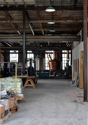 The inside of the under-construction St. Augustine Distillery is seen on Saturday, Oct. 6.