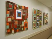 Among the 100 pieces or original art created for the cancer center by 71 New Jersey artists was this piece by Laura Petrovich-Cheney that features salvaged wood from Hurricane Sandy