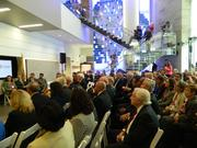 A packed crowd attended Monday's unveiling