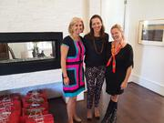 Anne Polk, chairwoman of the 2013 Care for Kids Card Program, member of the Board of Visitors for Children's National, and Long & Foster Realtor, with Sarah Cannova and Sassy Jacobs, owners of the upscale boutique Sassanova and honorary co-chairs of the Care for Kids Program.