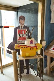 """A display in the Burger Phillips Building as part of the """"REVIVE: The Street Life Project."""""""