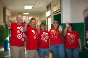 Target Volunteers Leave their Mark at Boyd Elementary School On Hands On Atlanta Day 2013.