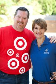 Malcom Pritchett of Target and Hands On Atlanta President & CEO Gina Simpson on Hands On Atlanta Day 2013.
