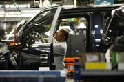 The F150 production line at Ford's Kansas City Assembly Plant