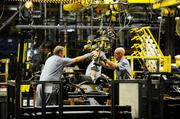 The F150 production line at Kansas City Assembly Plant