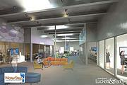 This rendering shows the planned interior of the WaterStep headquarters.