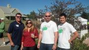 Bob Blythe (left) and Liz Woodworth, co-owners of Compass Cider House of Fort Collins, stand with Eric Foster and Philip Kao, co-owners of Stem Ciders of Denver, at Lakewood Cider Days on Oct. 6.