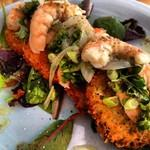Pickled shrimp and fried green tomatoes