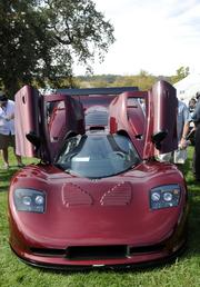 Jerry Regan owns this 2010 Mosler. It was one of the vehicles featured at the Niello Concours at Serrano in El Dorado Hills.