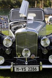 This 1948 Bentley belongs to Mike Holbein. It was one of the vehicles featured at the Niello Concours at Serrano in El Dorado Hills.