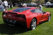 This is a 2014 Chevrolet Corvette featured at the Niello Concours at Serrano in El Dorado Hills.