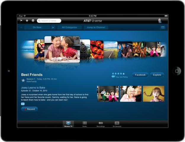 AT&T is offering customers the ability to watch more than 100 live channels on their smartphones and tablets through the new U-verse App.