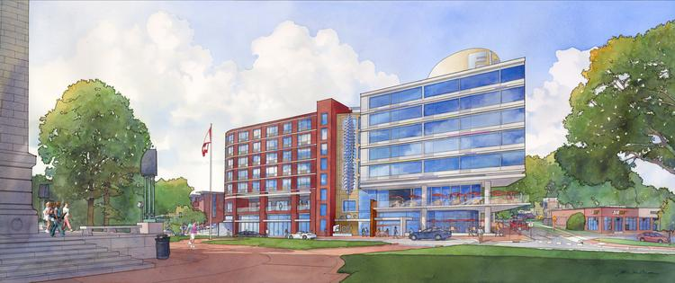 Rendering of proposed Aloft hotel planned for Raleigh.