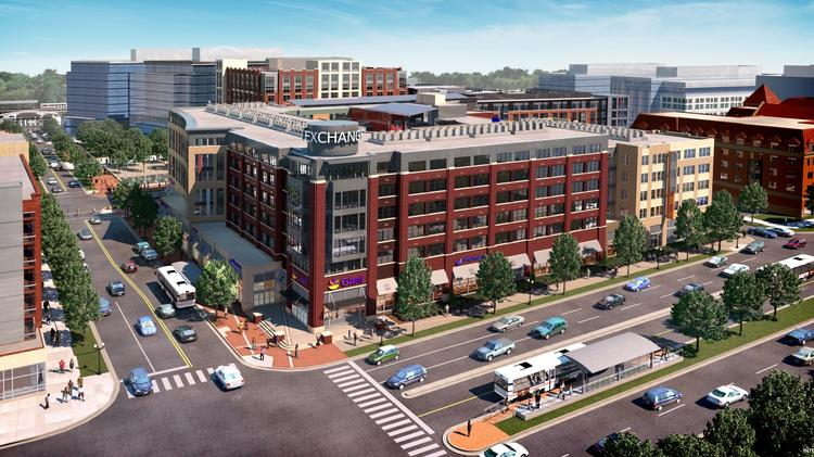 Notch Eight, a Giant-anchored mixed-use project, is one of two now under construction as part of The Exchange at Potomac Yard.