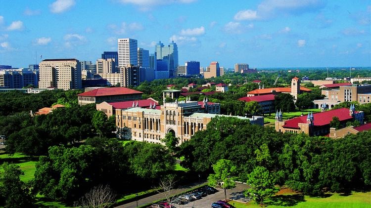 """Rice University's ranking fell in its second year on the list but still made the group of 150 colleges Princeton Review said were the country's """"best value"""" for students' bucks, along with some other Texas schools."""