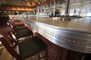 The sleek new zinc bar at Lake Park Bistro. Click here for story.