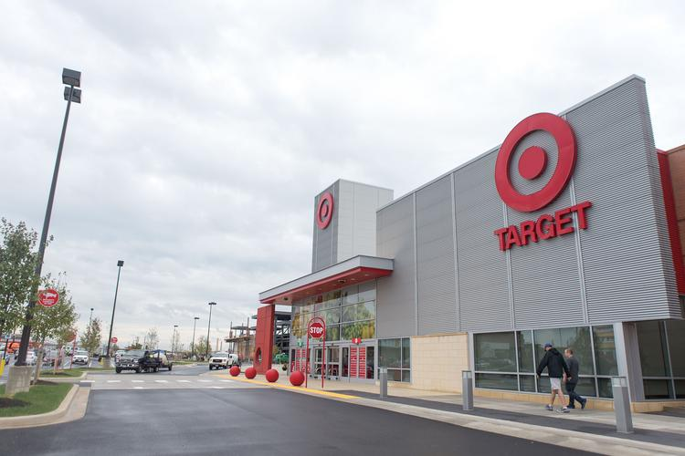 Many of the stores at Canton Crossing, including Target, opened in October.
