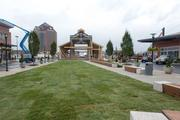 Landscaping at the main square at Canton Crossing.