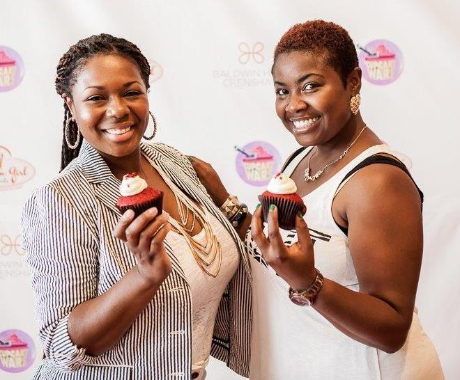 "The ""Dessert Divas"" -- Catarah Hampshire and Shoneji Robison of Southern Girl Desserts."