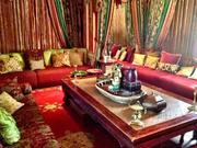 A colorful room at the mansion, dubbed the Morroccan room.