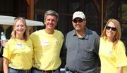 Ernst & Young volunteers completed a day of beautification projects at the newly opened Boulder Crest Retreat in Bluemont, where wounded warriors and their families can recover. From left, Marcia Foose, Kevin Virostek, Bould Crest Retreat owner Ken Falke and Aloha McBride.