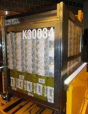 $40 million - made up of new $100 bills - inside an automated guided vehicle at the Federal Reserve Bank Houston branch