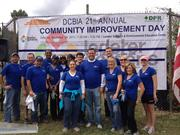 The D.C. Building Industry Association had more than 900 people pitch in at the Lederer Gardens for its Community Improvement Day. Employees from First Potomac Realty Trust were among the volunteers.