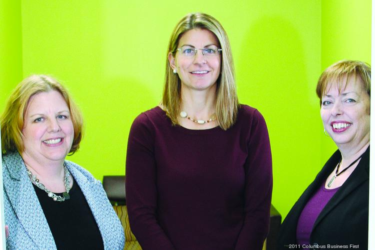 Sharon DeLay, left, Caroline Worley, middle, and Mary McCarthy collaborated to open the Women's Small Business Accelerator.
