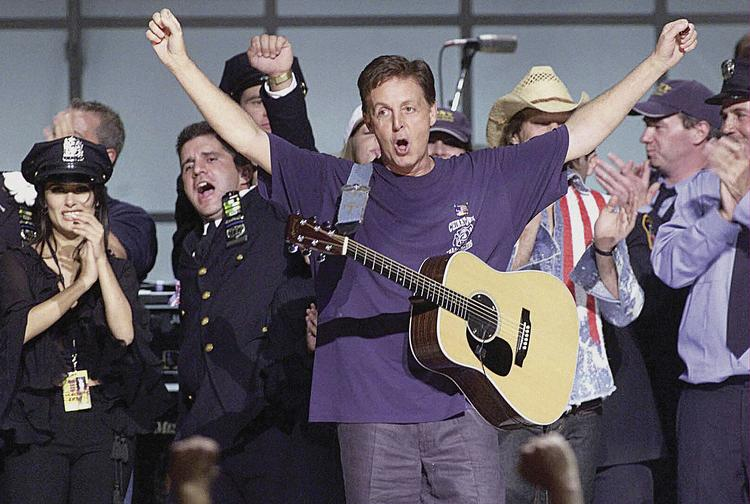 "Paul McCartney is shown in a scene from the 2011 Showtime program ""The Love We Make."""