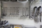 Kitchen utensils hang at Lake Park Bistro. Click here for story.