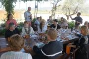 The Crocker & Starr staff poured various wines for the group and explained some of the history of the company.