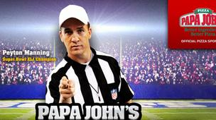 Denver Broncos quarterback Peyton Manning is a national spokesman for Papa John
