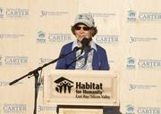 Rosalynn Carter greeted some 200 volunteers as part of Habitat's 30th Jimmy and Rosalynn Carter Work Project in San Jose.