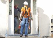 President Jimmy Carter visited several sites in the Bay Area, including in Oakland and East San Jose. Here he works at a Habitat for Humanity build on Terilyn Road in San Jose.