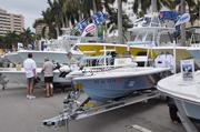 Not all the boats at the Palm Beach International Boat Show are megayachts.