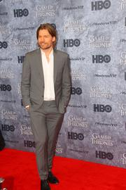"Actor Nikolaj Coster-Waldau, who plays Jaime Lannister, on HBO's hit series ""Game of Thrones,"" poses during a red carpet event at the Cinerama theater in Seattle March 21."