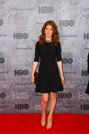 "Actress Rose Leslie, who plays wildling Ygritte on HBO's hit series ""Game of Thrones,"" poses for photos during a red carpet event at the Cinerama theater in Seattle March 21."