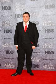 "Actor John Bradley, who plays Samwell Tarley on HBO's hit series ""Game of Thrones,"" poses for photos during a red carpet event at the Cinerama theater in Seattle March 21."