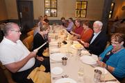 Once seated in our private room at Bottega, the group peruses the menu, created by Chef Michael Chiarello.