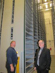 Tom Swift and Ron Brashear at the new John C. Haas Archive of Science and Business at the Chemical Heritage Foundation.