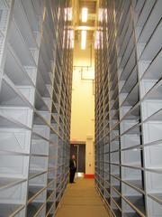 There is 1.5 miles of linear shelf space at the new John C. Haas Archive of Science and Business at the Chemical Heritage Foundation.