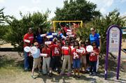 Strike LLC is a 2013 Best Places to Work finalist. The company recently started a program called Campaign For Change, or C4C, to inspire employees to commit both time and finances to worthy causes. In the example depicted, employees helped build a playground for a needy school.
