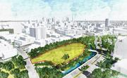 A rendering of the six-acre site off Turtle Creek Boulevard, where Perot Group and Hillwood plan to develop its new corporate headquarters.