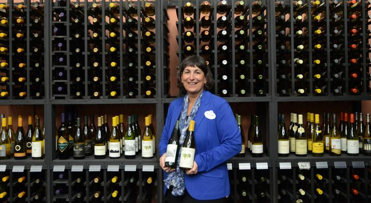 Walt Disney World culinary program manager Marianne Hunnel in the wine section of the Festival Center at Epcot as preparations for the Food & Wine Festival are underway.